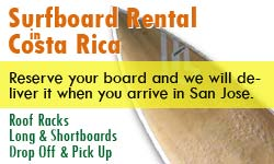 Surfboard rental Costa Rica