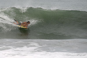 Bodyboarding in Playa Hermosa.