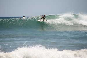Charging down the line at Little Hawaii.