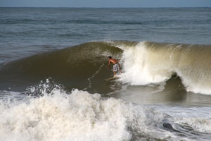 Surfing at Backyards, Costa Rica.