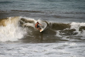 Backyards is a well known surf spot in Costa Rica.
