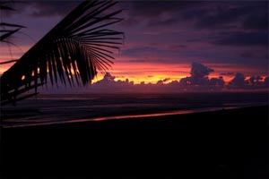 Sunset in Dominical.