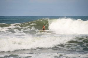 Characteristics of the break can change with the shifting sandbanks.