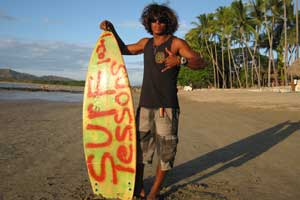 Tamarindo is a surfer town. Many good waves are close by: Playa Grande, Playa Negra, Playa Avellanas...