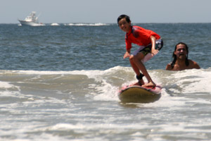 Surfing makes you smile!