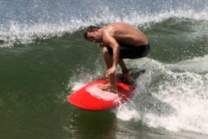 Surfing at El Estero, Tamarindo.