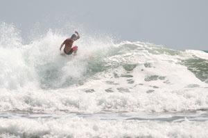 A surfer at Esterillos Centro.