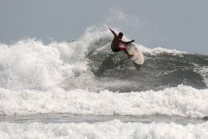Surfing at Esterillos Centro.