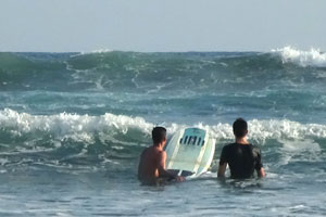 Surf school in Esterillos Este.