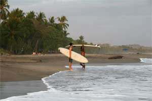 Surfers at Esterillos Oeste.