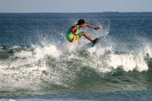 Small, fun waves in Tamarindo.