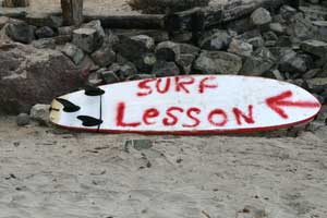 There are several surf schools in Tamarindo, it is a good place to start surfing.