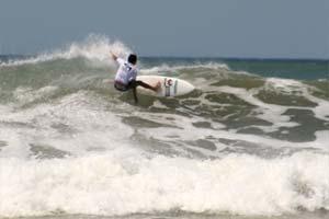 Playa El Carmen with a good swell.