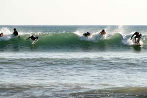 Playa Grande is one of the surf spots in Costa Rica that can get crowded.