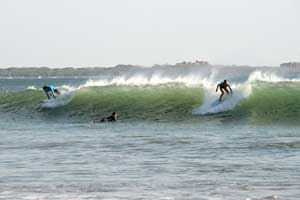 Dropping in at Playa Grande, Guanacaste.