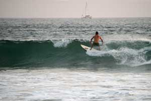 Here surfers can surf good lefts and rights.
