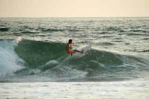 Waves at Playa Grande are much more powerful than the waves at Tamarindo Beach.