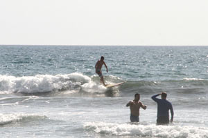 Mushy surf in Playa Guiones.