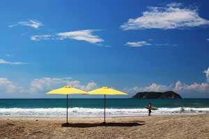 The beautiful beach of Manuel Antonio.