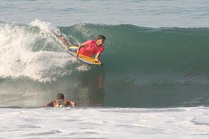 Bodyboarders at Terrazas.